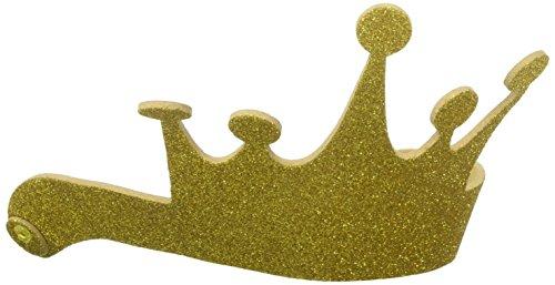 DARICE Foamies Glitter Tiara, Gold