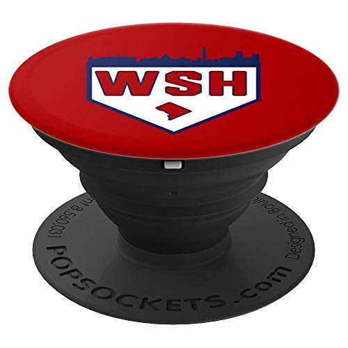 Washington DC Baseball Home Plate Vintage WSH PopSockets Grip and Stand for Phones and Tablets