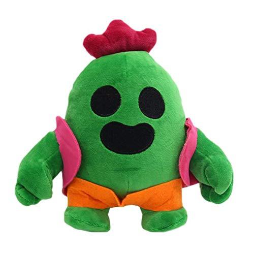 Okssud Kaktus Plüschtier, Cartoon Anime Cactus Plüsch Kuscheltier Kaktus Weiche Kuscheltiere Spielzeug, Cactus Figuren Toy Brawl Toy Plüschpuppe Geschenke für Geburtstag, Halloween, Christmas, 20 cm