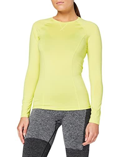 Amazon Brand - AURIQUE Top deportivo de running para mujer, Verde (Lime Sherbert), 42, Label:L