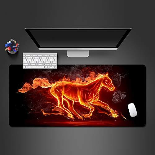 HonGHUAHUI Modern vlammen paard muismat voor spelers, spelers, van hoge kwaliteit computer-kantoor-toetsenborden 800 x 300 x 2 mm.