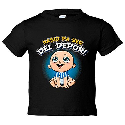 Camiseta niño nacido para ser del Depor Coruña fútbol - Negro, 5-6 años