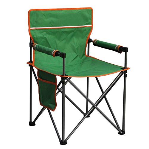 Chaise De Camping Pliante, Chaise De Camping avec Sac De Transport, Chaise Légère Pliable pour Le Pique-Nique en Plein Air, Randonnée (Color : Green)