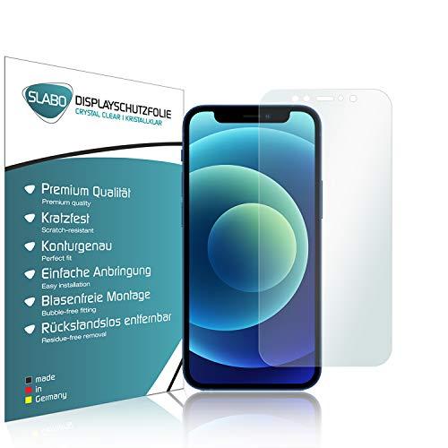 Slabo 4 x Pellicola Protettiva per Display per iPhone 12 Mini Protezione Display Crystal Clear
