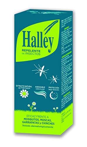 HALLEY Repelente Mosquitos Spray Eficaz Repelente de Todo Tipo de Insectos Protección de Larga Duración con Extracto Natural de Pyrethrum | 100ml Ideal Equipaje de Mano