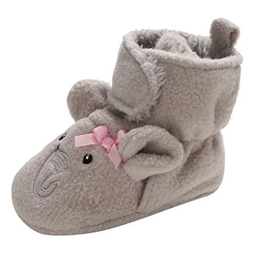 WEXCV Unisex Baby Jungen Mädchen Neugeborenes Schneestiefel Weiche Sohlen Cartoon Tier Herbst Winter Warme Bootie Kleinkind Stiefel Niedlich Stiefel