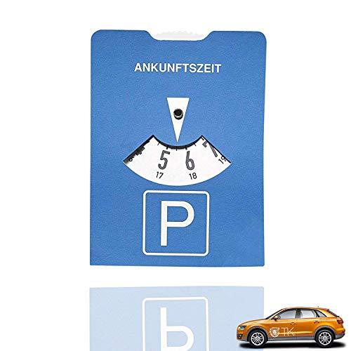 TK Gruppe Timo Klingler Parkscheibe klein & handlich gemäß StvO - Parkuhr blau für Auto aus Pappe (5X)