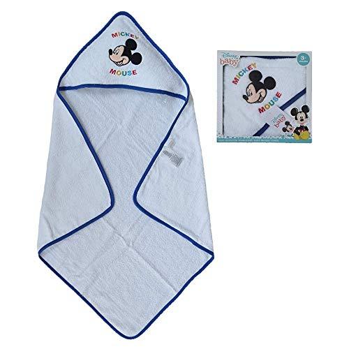 Generico Accappatoio Triangolo Topolino Mickey Mouse Disney Neonato Bambino Asciugamano in Cotone - MIC1726/3