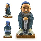 YJKJ Resin Souvenir Figurine, Confucius from China Creativity Statue Sculpture, Home Decor, Collection Gift for Thanksgiving Christmas