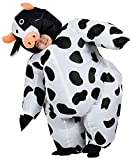 JYZCOS Inflatable Cow Costume Adult Funny Blow Up Farm Animal Suit Halloween Cosplay Fancy Dress (Adult Size)