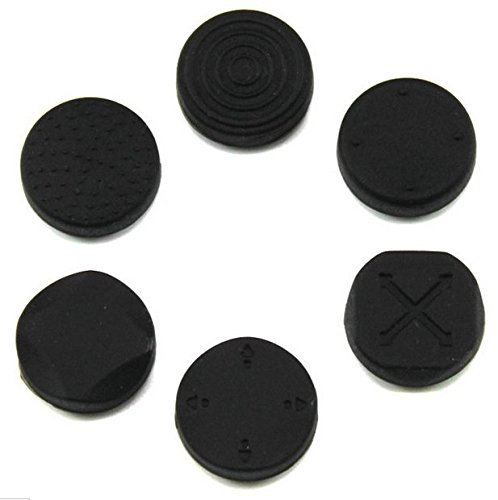 1 Set Analog Silicone Thumb Stick Grip Joystick Caps Cover for PSV 1000 2000 PS Vita Black