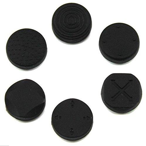 1 Set Analog Silicone Thumb Stick Grip Joystick Caps Cover for PSV 1000 2000 PS Vita Black