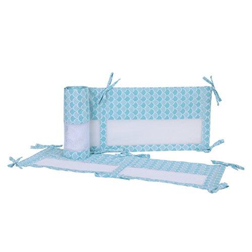 Disney Ariel Mer Princess Secure-me Crib Liner, Bleu/Aqua