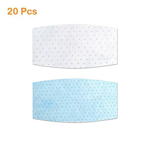 Wegwerp gezichtsmaskers Pakking Masker Filter, 2 Stks Vervangbare Anti Haze Filter Papier, 3-laags Non-woven Ademhaling Filters 20pcs Vierkant