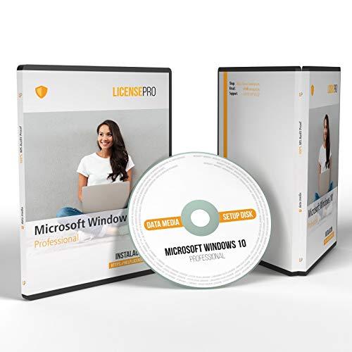 Windows 10 Professional 32/64bit ISO Original DVD con licencia, con todas las actualizaciones incluidas Licencia por volumen (VL) a prueba de auditoría con garantía