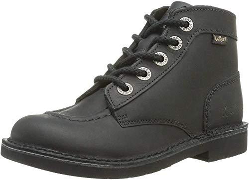 Kickers Kragen, Stiefel & Stiefel, klassisch, Unisex, Kinder, Schwarz - Schwarz - Größe: 25 EU