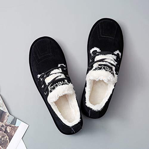 Shukun enkellaarsjes winter sneeuwlaarzen vrouwelijke korte laarzen damesschoenen mode studenten winterschoenen dikke warme katoenen schoenen