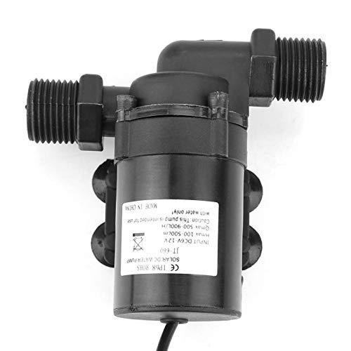 Bomba de agua sin escobillas 12V, bomba de agua de flujo 1000L / H para calentador de agua solar, de poco ruido ≤35DB