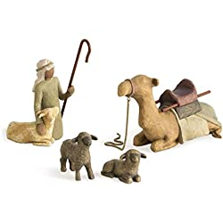 Design di Susan Lordi 9.5 cm Multicolore /& Willow Tree 26180 Il Bue e La Capra Resina Enesco Willow Tree Scultura Animali del Presepe Resina