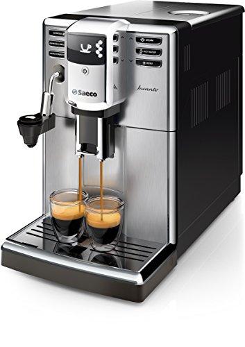 Philips Incanto Cafetera Espresso Super Automática, 1850 W, 2 Cups, plástico, Negro y metalizado