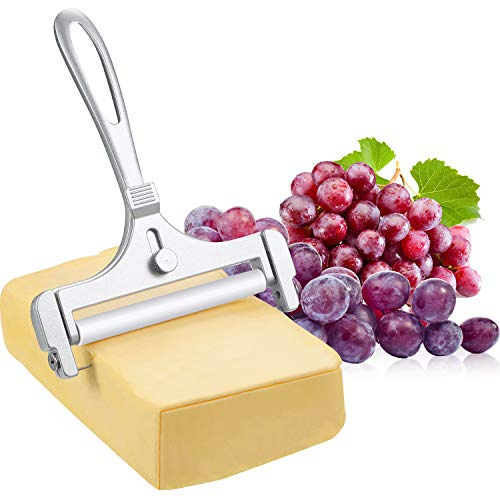Stainless Steel Wire Cheese Slicer Adjustable Thickness Cheese Cutter for Soft, Semi-Hard...