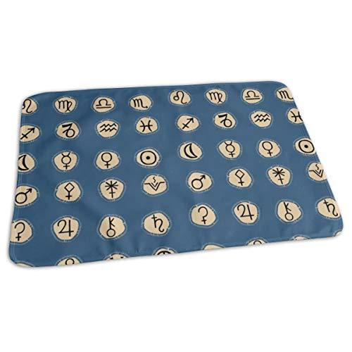 Astrologie Tekenen Blauw Bed Pad Wasbaar Waterdichte Urine Pads voor Baby Peuter Kinderen en Volwassenen 27.5 x19.7 inch