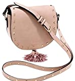 Victorias Secret Festival CROSSBODY Tassel Gold Studded Purse Tote Handbag, Pink Peach