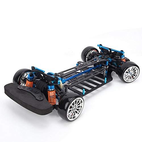 T best RC Auto Rahmen, RC Radstand Rahmen Carbon Metall Auto Chassis Strahl 1:10 Drift Rennwagen Rahmen Kit RC Chassis Stoßstange Fit für TT01/TT01E 1/10 RC Auto Modell