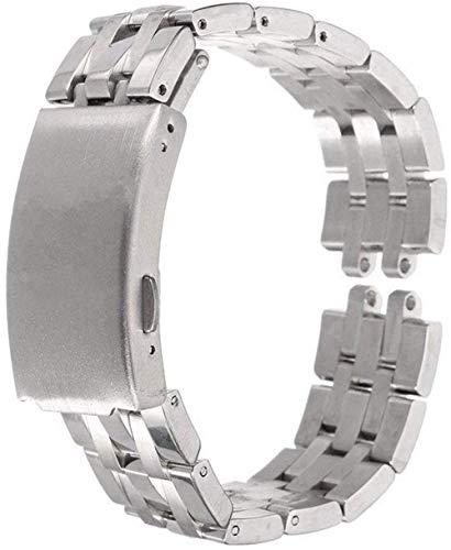 JWCN Correa de reloj de 19 mm de repuesto de acero inoxidable con destornillador, compatible con Tissot PRC200, T17, T461, T014, T41, correa de repuesto