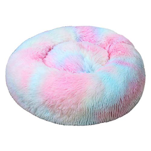 Rneotnnk 2020 Pet - Plush Orthopedic Soft Bed Sofa, L-Shaped Chaise Couch, Ergonomic Contour Mattress, & Long Faux Fur Calming Donut Dog Bed for Pets
