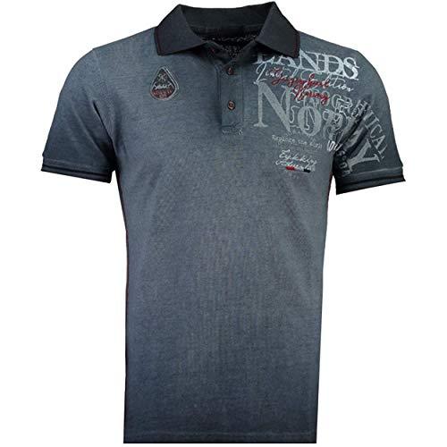 Geographical Norway KADVENTURE - Herren Baumwolle Fit Polo-Shirt - Polo Regular Slim - Kragenform Oberen Hochwertige- Qualität Casual T-Shirt - Original Geschenk für Männer (Marine XL)