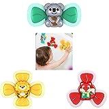 Juguete giratorio de baño para bebés con ventosa giratoria Mesa de juego con ventosa Juguetes de aprendizaje temprano Rotación persistente Adecuado para alimentar y bañarse