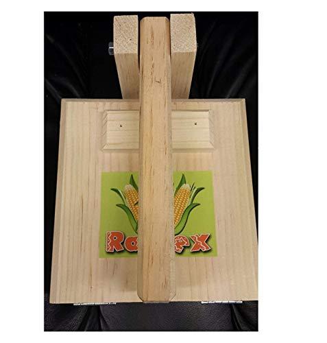 Square All Wood 7' Manual Tortilla Maker Press Wooden Handle and Body Simple Design for flower tortillas corn tortillas sugar pancakes gorditas savory christmas crispiest (bunuelos).