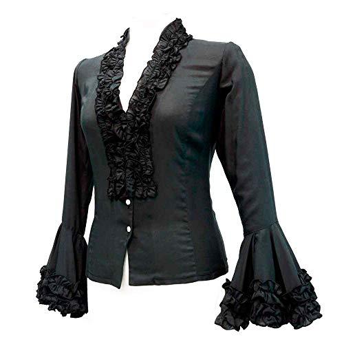 Camisa flamenca negra con volantes 💓