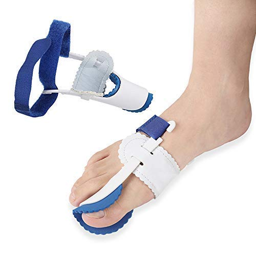 N /A QJYNS Bunion Corrector Einstellbarer Bunion Protector Schmerzlinderungssatz, Toe Spacers Alignment Straightener Splint für Hammer Toe 1Pair