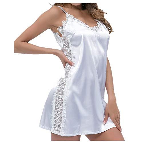 WANGYUEGUANG Schweizer ansprechender Pyjama Nachthemd Lace Sling Midirock Nachthemd...