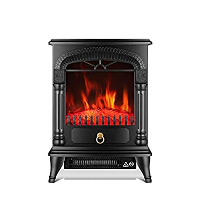 ZMXZMQ Portable Free Standing Electric Fireplace, Dual Temperature Control 1000 W / 2000W Electric Fireplace, Insert Stove Heater with Realistic Log Flame