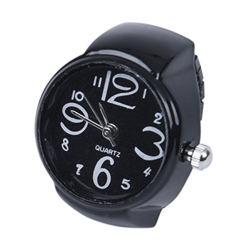 TOOGOO 22mm Rund Ringuhr Finger Uhr Fingeruhr Uhrenring Metall TOP