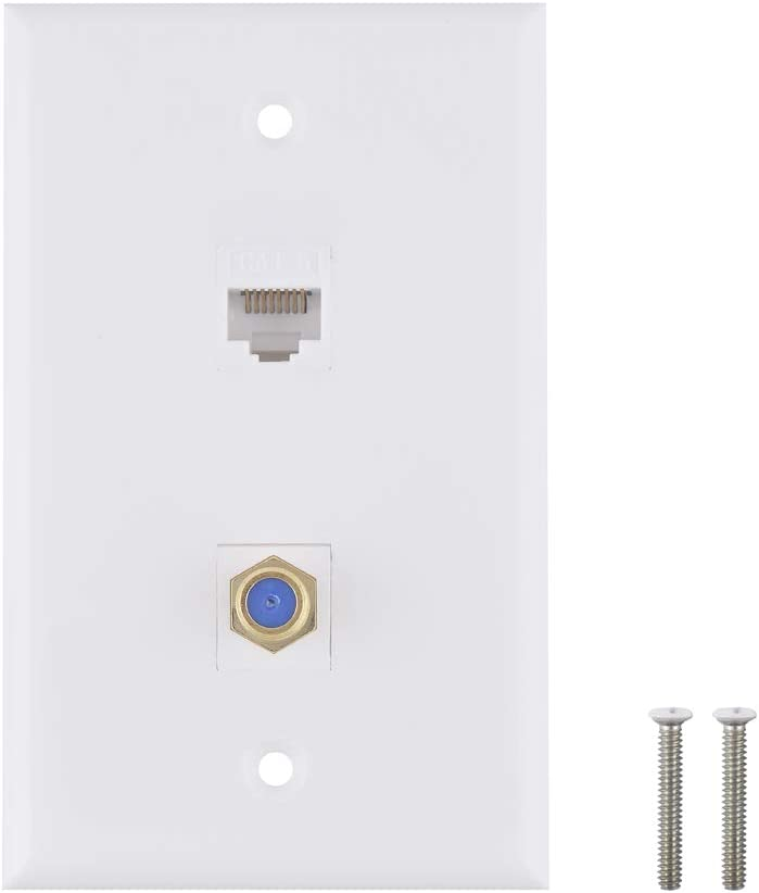 Ethernet Coax Wall specialty shop Plate - Cat6 Type Port K 1 Max 71% OFF F