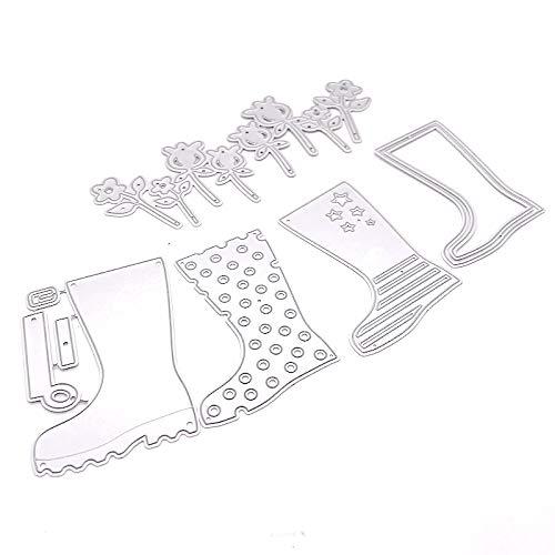 KSCRAFT Rain Boots Tags Metal Cutting Dies for DIY Scrapbooking/Card Making/Kids Fun Decoration Supplies