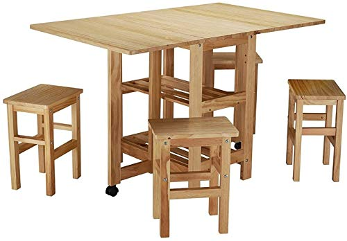 Folding Dining Set 4 Seater Table Chairs Extend Set