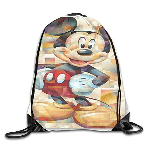 LREFON Cool M-Ouse Drawstring Bag Gym Mochila Hombre Mujer Sport Storage Bandolera