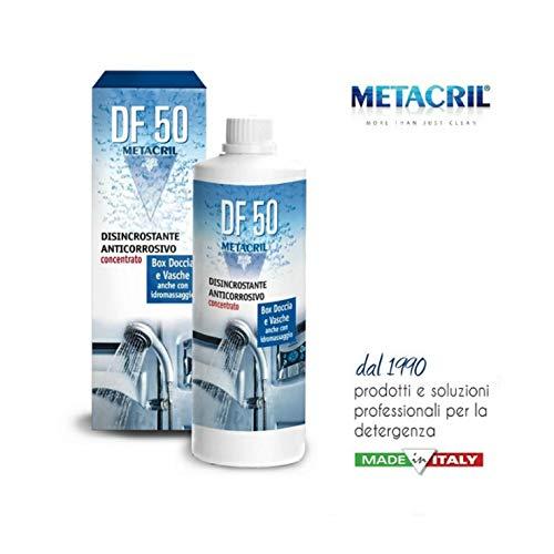 Super DISINCROSTANTE Anti-corrosivo concentrato DF50 500ml. per Box Doccia, Cristalli, Rubinetteria, Vasche Idromassaggio, Sanitari. Spedizione IMMEDIATA