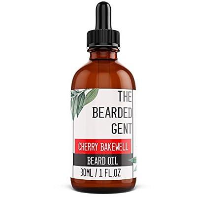The Bearded Gent Beard Oil - Moisturiser & Conditioner for Men's Facial Hair & Skin - Argan, Jojoba & Grapeseed Oils - Helps Prevent Itching & Dandruff - Softener, Thickener - Cherry Bakewell - 30ml