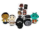 Classic Star Wars and Star Wars New Trilogy Plushies Set - 5 Pc Hallmark Itty Bittys Star Wars Plush Toys Star Wars Stuffed Animal Bundle with Star Wars Stickers (Star Wars Party Decorations)