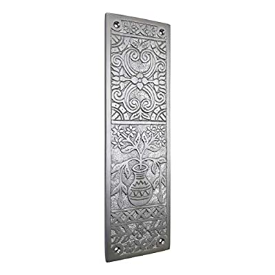 Adonai Hardware Melchizedek Decorative Push Plate (Satin Nickel)