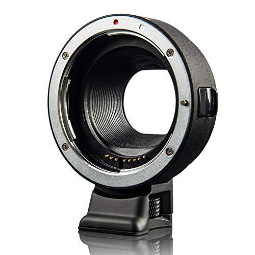 VILTROX EF-EOS M マウントアダプター キャノン EF/EF-Sレンズ→Canon EOS Mシリーズ ミラーレス一眼カメラ AF 絞り調整可能 手振れ補正 M1 M2 M3 M5 M6 M10 M50 M100に適用