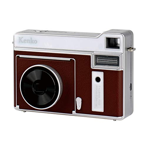 Kenko インスタントカメラ モノクロカメラ ブラウン 感熱紙使用 約80回プリント可能 microUSB充電 KC-TY01 BR