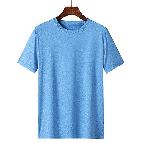 Verano de Seda de Hielo de Secado rápido para Hombres Camiseta de Manga Corta Casual de Negocios de Mediana Edad y Ancianos Corriendo Fitness Transpirable Deportes Hombres Tops