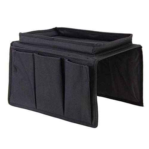 jieGorge 2-in-1 Sofa Armrest Organizer Couch Chair Caddy Organizer Holder, Housekeeping & Organizers, Products for Xmas Day (Black)